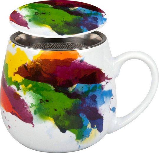 Könitz Tasse »On colur - Flow« (2-tlg), Porzellan, mit Sieb und Deckel