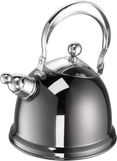 SCHULTE-UFER Wasserkessel »Luna«, Edelstahl 18/10, (1-tlg), Ø 16 cm, 1,7 Liter, Induktion
