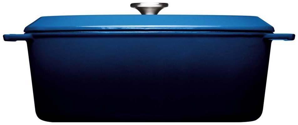 WOLL Bräter »Iron«, Gusseisen, 34x26 cm, Induktion | Küche und Esszimmer > Kochen und Backen > Pfannen | Blau | WOLL