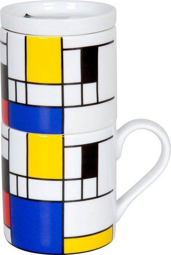 Könitz Kaffeebereiter Hommage-Small Fragments, 0,37l Kaffeekanne, Coffee for one, Porzellan