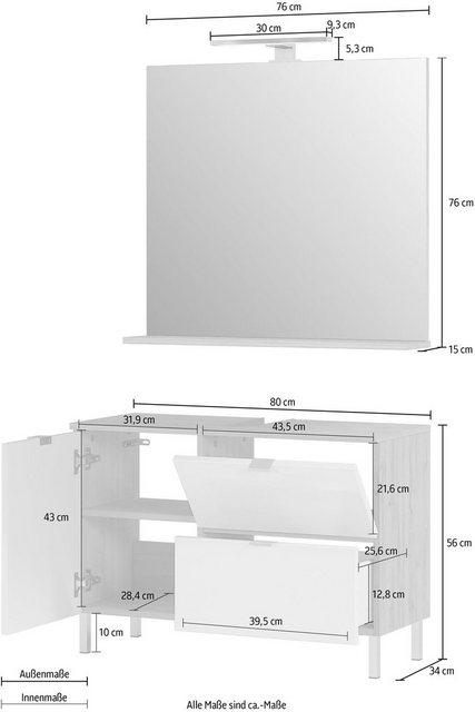 Badezimmer Sets - GERMANIA Badmöbel Set »GW Mauresa«, (Set, 2 tlg)  - Onlineshop OTTO