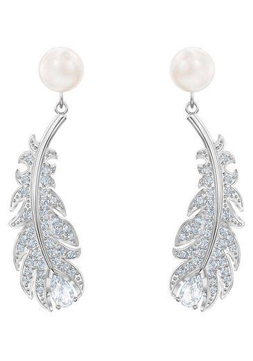 Swarovski Paar Ohrstecker »NICE PEARL, 5496052«, mit Swarovski® Kristallen und Swarovski® Perlen