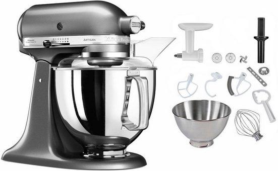 KitchenAid Küchenmaschine 5KSM175PSEMS Artisan, 300 W, 4,83 l Schüssel, inkl. Sonderzubehör im Wert von ca. 106,-€ UVP