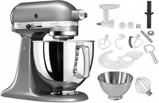 KitchenAid Küchenmaschine 5KSM125ECU Artisan, 300 W, 4,83 l Schüssel, inkl. Sonderzubehör im Wert von ca. 245,-€ UVP