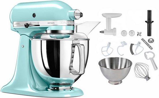 KitchenAid Küchenmaschine 5KSM175SEIC Artisan, 300 W, 4,83 l Schüssel, inkl. Sonderzubehör im Wert von ca. 106,-€ UVP