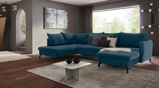 Nova Via Wohnlandschaft, Premium Artikel, wahlweise mit Bettfunktion