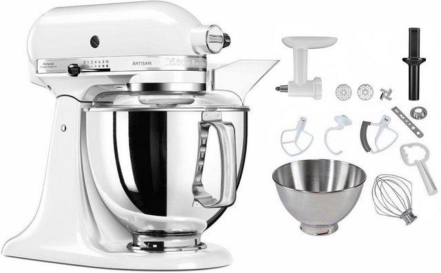 KitchenAid Küchenmaschine 5KSM175PSEWH Artisan, 300 W, 4,8 l Schüssel, inkl. Sonderzubehör im Wert von ca. 112,- UVP
