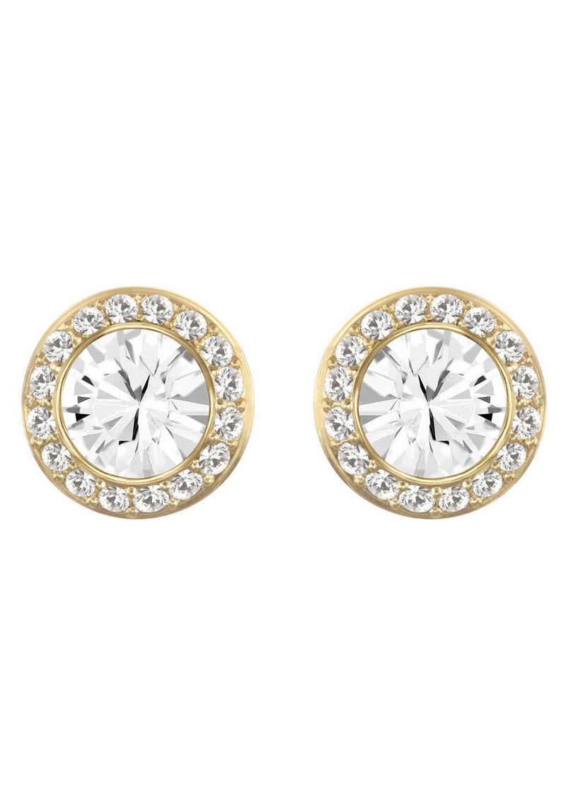 Swarovski Paar Ohrstecker »ANGELIC ROUND, 5505470«, mit Swarovski® Kristallen