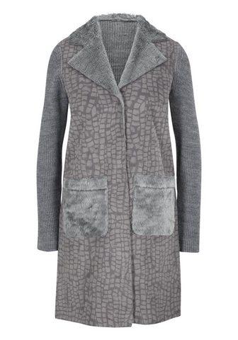 HEINE CASUAL megztas paltas im raštų derinys...