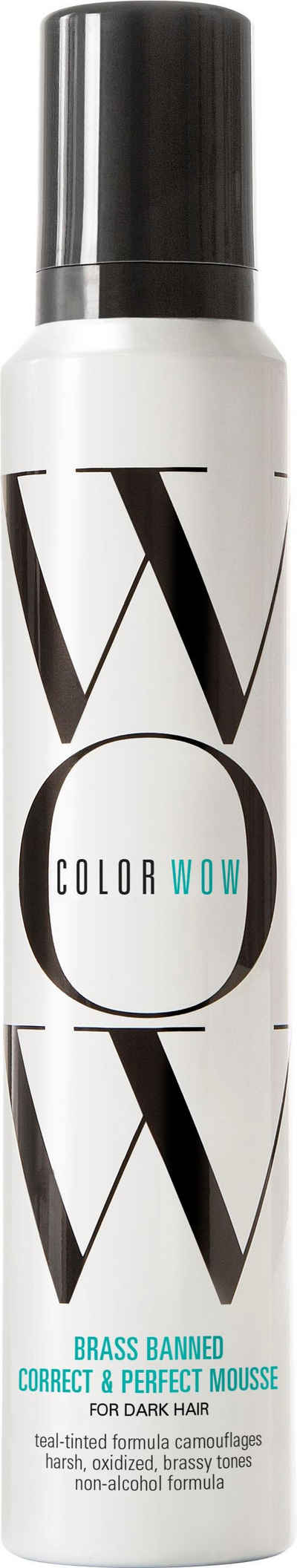 COLOR WOW Haarmousse »Brassed Banned Mousse«, für dunkles Haar