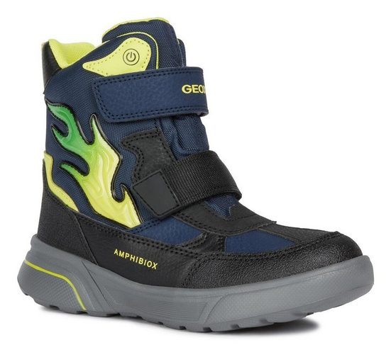 Geox Kids »Sveggen Boy« Klettstiefel mit cooler Blinkfunktion