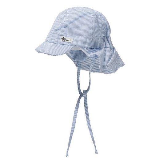 Sterntaler® Schirmmütze mit UV-Schutz 15 mit Nackenschutz zum Binden für