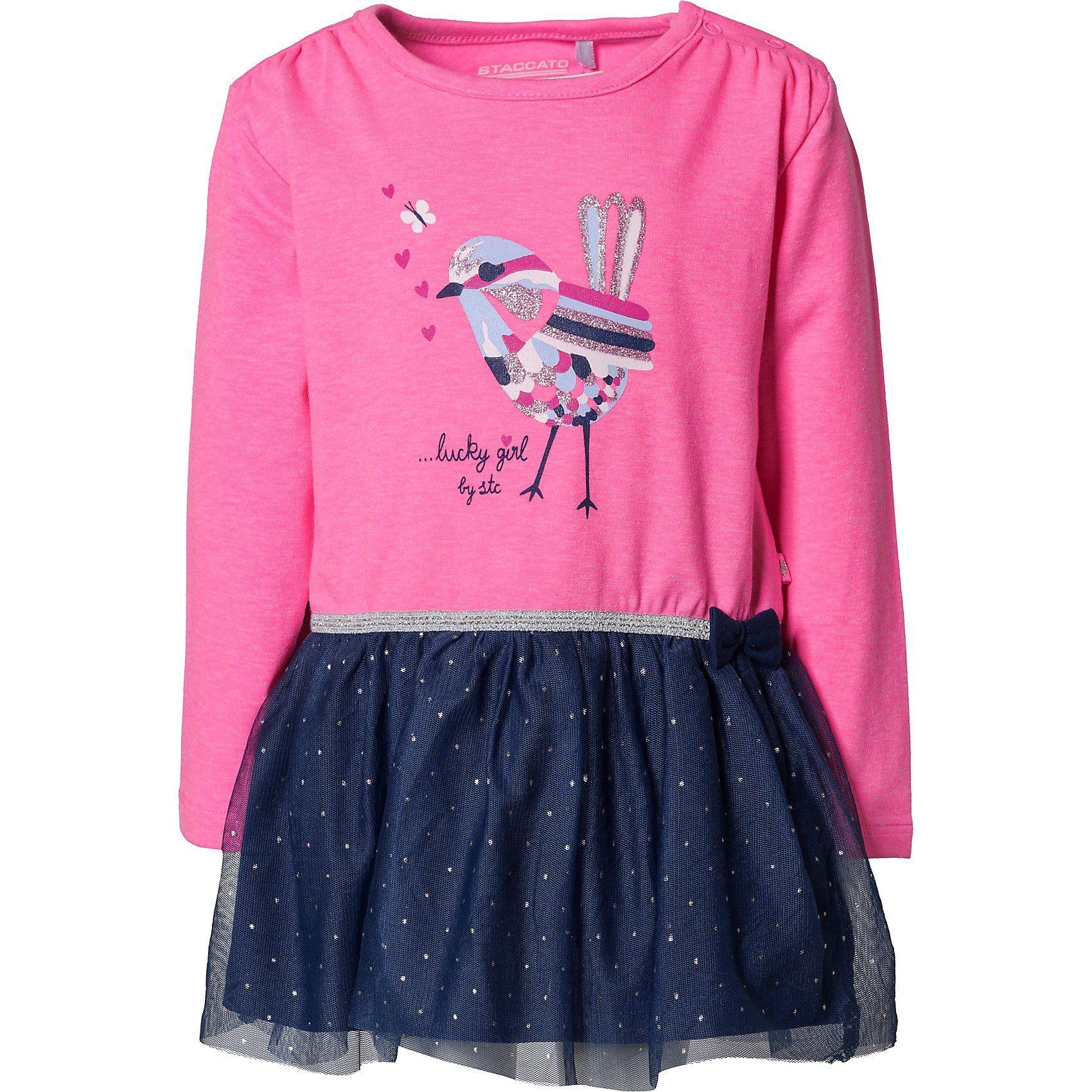 Baby,  Kinder,  Mädchen,  Kinder,  Unisex STACCATO Baby Jerseykleid für Mädchen rosa | 04061708626370