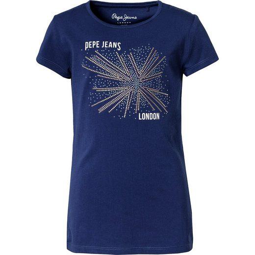 Pepe Jeans T-Shirt HOPE mit Glitzersteinen für Mädchen