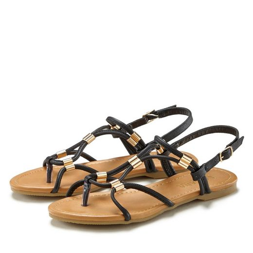 LASCANA Sandale mit kleinen Metall-Elementen