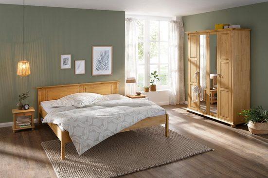 Home affaire Schlafzimmer-Set »Mitu«, aus massiver Kiefer (4-teilig)