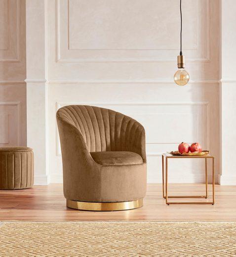 GMK Home & Living Sessel »Warna« mit Drehfunktion