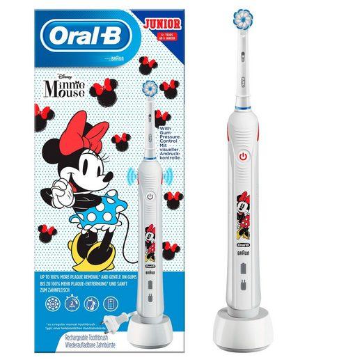 Oral B Elektrische Kinderzahnbürste Junior Minnie Mouse, Aufsteckbürsten: 1 St.