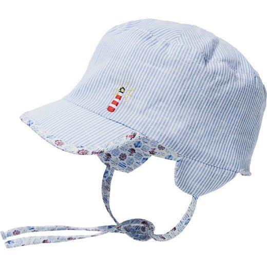 Sterntaler® Baby Wende-Schirmmütze mit UV-Schutz 15 zum Binden für Junge