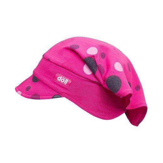 Döll Kopftuch mit UV-Schutz 30 mit Schirm für Mädchen