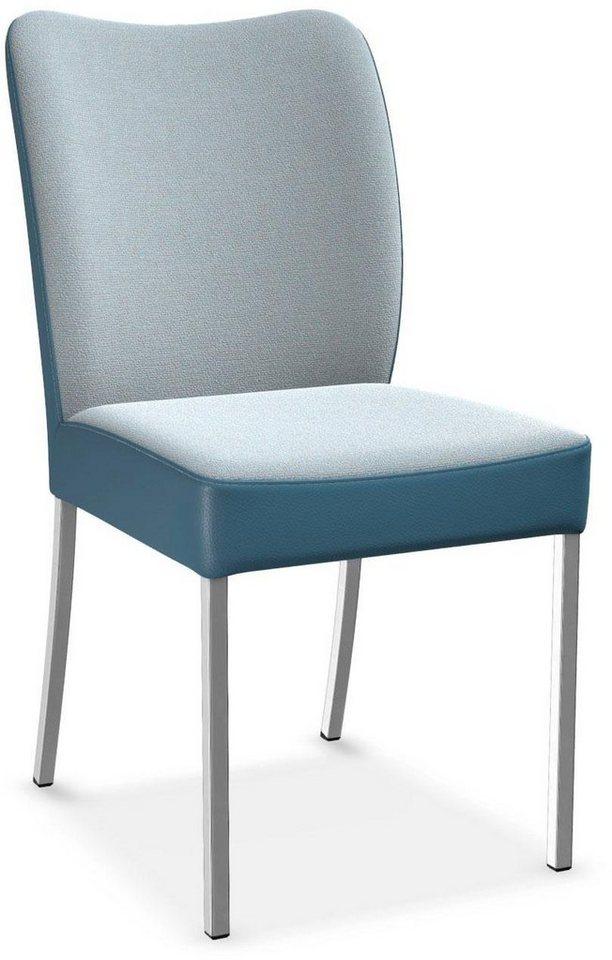 Bert Plantagie Stuhl DUO 2 Set In Bi Color Stoff Leder