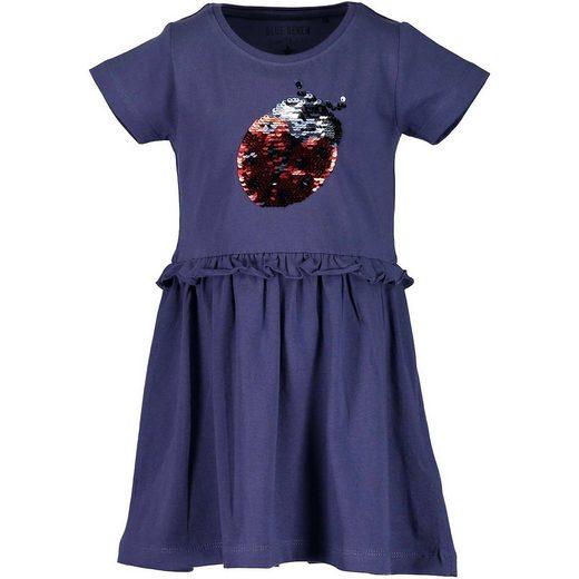 Blue Seven Kinder Jerseykleid mit Wendepailletten