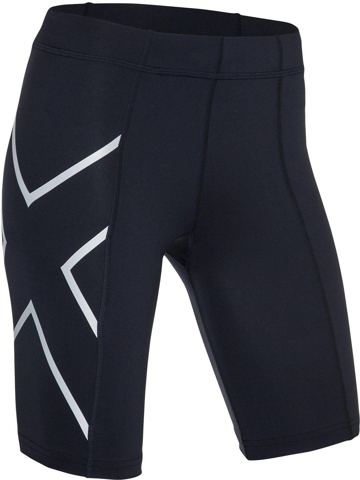 2Xu Mid-Rise Damen Kompression Shorts Funktionshose Sport Hose Laufhose Schwarz