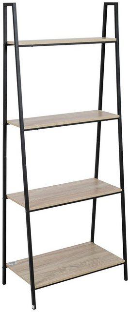 Küchenregale - axentia Standregal »Regal, Eisen, mit 4 Holzablagen«  - Onlineshop OTTO