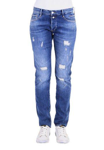 Le Temps Des Cerises Bequeme Jeans mit stylischen Used-Elementen