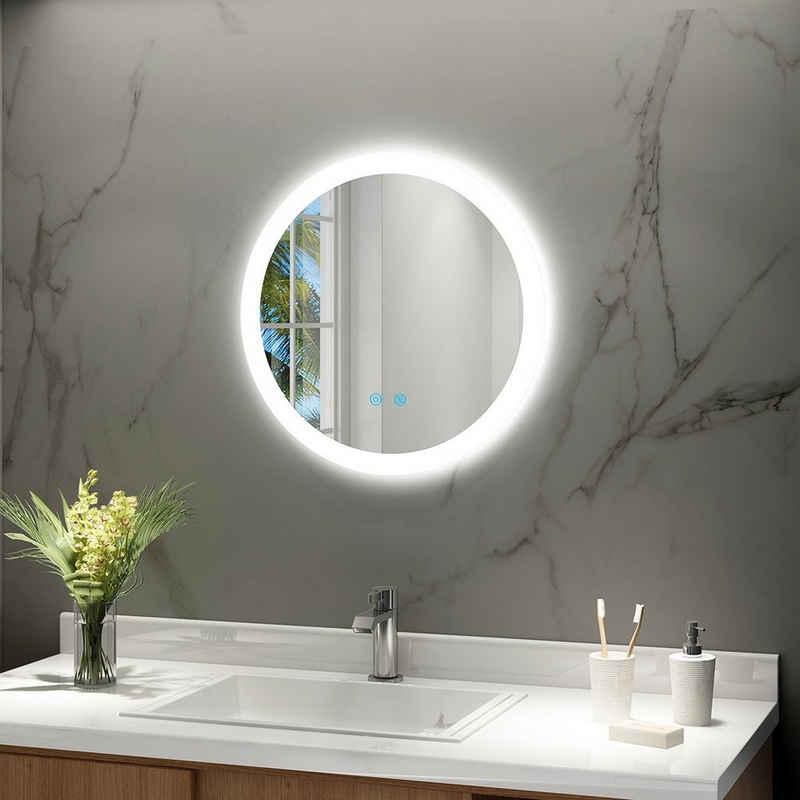 IMPTS Badspiegel »Badezimmerspiegel mit LED Beleuchtung Touchschalter Beschlagfrei Dimmbar neutralweiß 4000K IP44«