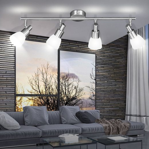 WOFI LED Lichtleiste, LED Decken Spot Leuchte Wohn Schlaf Zimmer Strahler Leiste Lampen beweglich WOFI 9361.04.64.0000