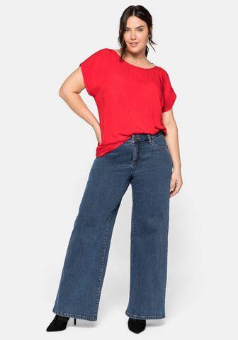 Sheego Stretch-Jeans in tiesus weiten Schnitt...