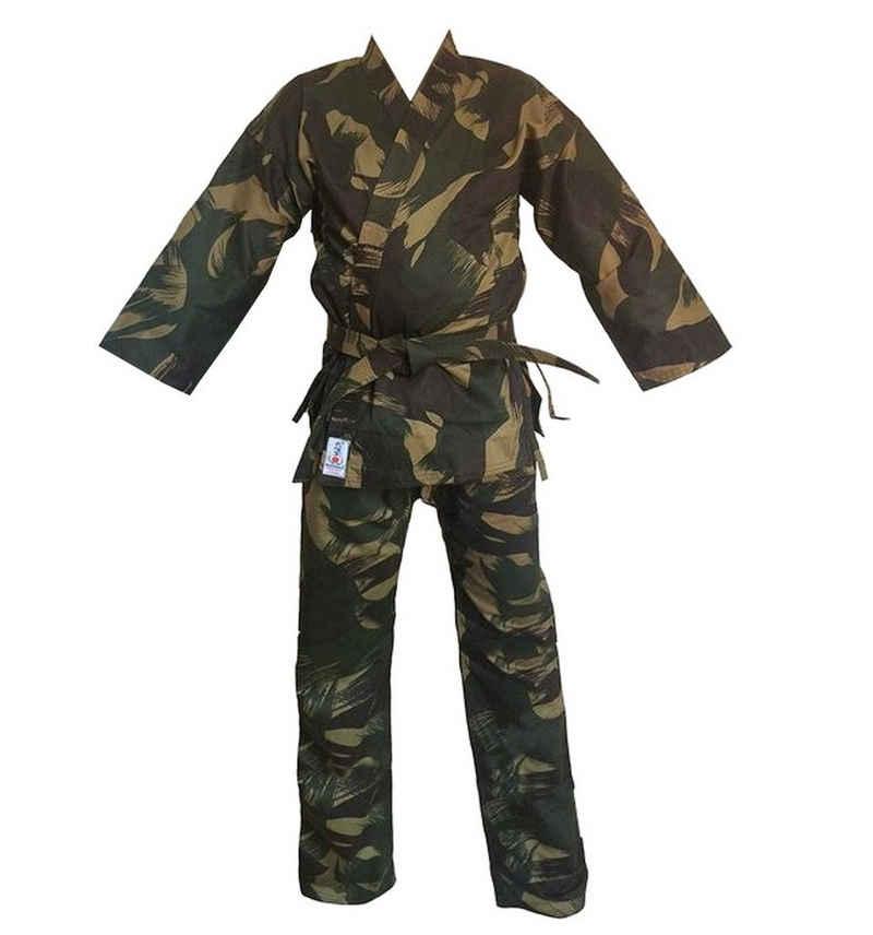 BAY-Sports Karateanzug »Woodland Camouflage Karatehose und Karatejacke«, 100% Baumwolle, Größe 140 - 200, 10 OZ, inkl Gürtel, Karate Gi