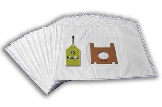 eVendix Staubsaugerbeutel Staubsaugerbeutel passend für Moulinex Alto CEK 1, 10 Staubbeutel + 2 Mikro-Filter, kompatibel mit SWIRL R29, passend für Moulinex