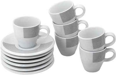 Retsch Arzberg Espressotasse »Novo Ultra«, Porzellan, 6 Tassen, 6 Untertassen