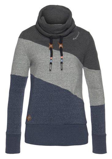 Ragwear Sweater »RUMIKA« im Colorblocking-Design
