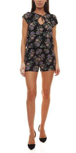 Buffalo Strandoverall »Buffalo Jumpsuit stylischer Damen Strand-Overall mit Blumenmuster Einteiler Schwarz«