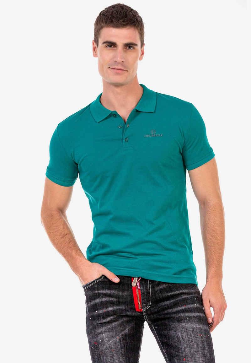 Cipo & Baxx Poloshirt mit kleiner Markenstickerei