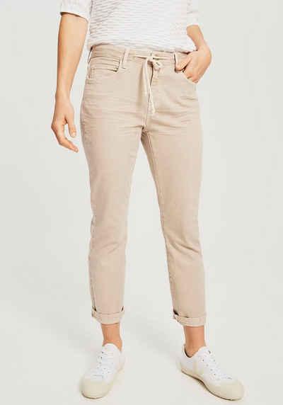 OPUS 5-Pocket-Jeans »Louis Colored« mit dekorativem Bindedetail