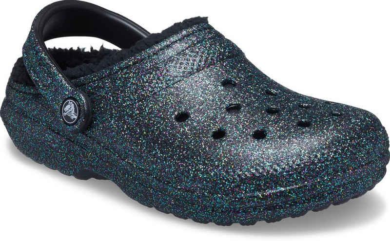 Crocs »Classic Glitter Lined Clog« Hausschuh mit Glitzer