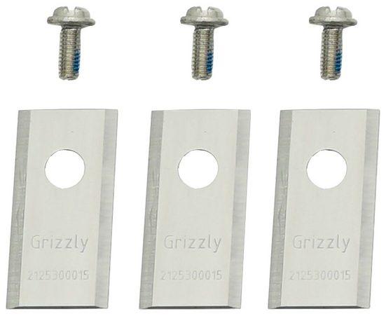 GRIZZLY Ersatzmesser für Rasenmähroboter, 3er Set