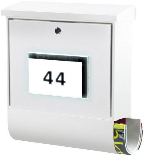 BURG WÄCHTER Briefkasten »Malaga 4400 W«, Solar-Briefkasten