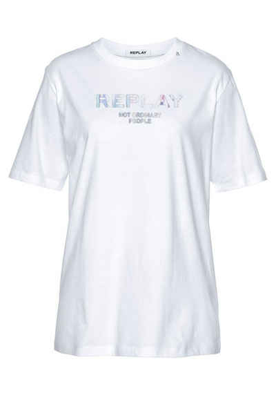 Replay Oversize-Shirt mit Statement-Print