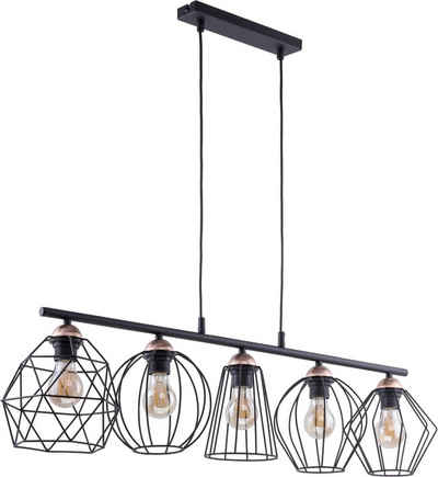 Licht-Erlebnisse Pendelleuchte »GALAXY«, Pendelleuchte Esstisch Schwarz Kupfer Metall Esstisch Lampe