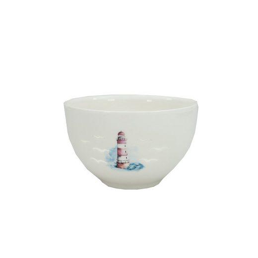 HTI-Line Dessertschale »Dessertschale Leuchtturm«, Porzellan