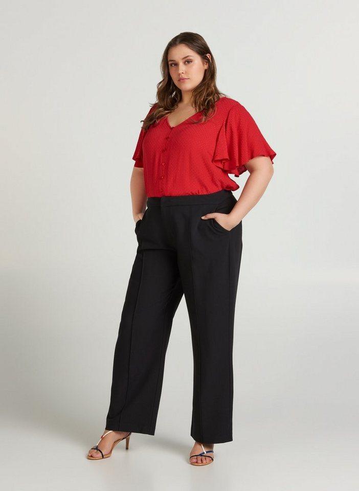 zizzi -  Stoffhose Große Größen Damen Hose mit Taschen und Stretchstoff