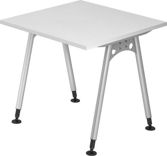 bümö Schreibtisch »OM-AS08«, 80x80 cm höhenverstellbar bümö® Premium Qualität