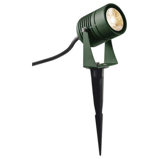 click-licht LED Aufbaustrahler »LED Erspießstrahler Spike in Grün 6W 400lm IP55«, Außenstrahler