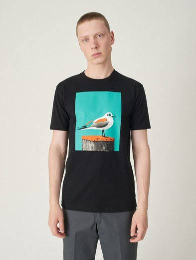 Cleptomanicx T-Shirt »Paint Gull« mit Front-Print