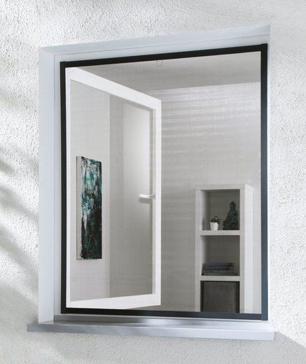 hecht international Insektenschutz-Fenster »MASTER SLIM«, anthrazit/anthrazit, BxH: 100x120 cm